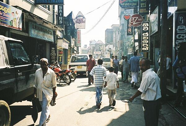 Rathnapura Sri Lanka  city photos : Main Street in Ratnapura. Ratnapura translates as the
