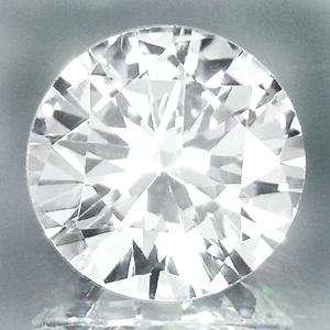 NATURAL WHITE  SAPPHIRE 5 MM ROUND DIAMOND COLOR