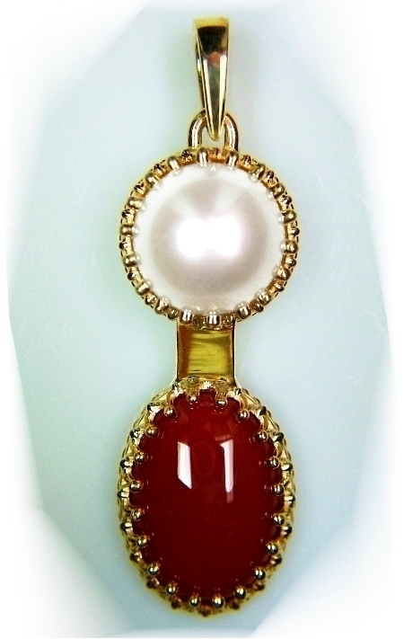 pendant divya com coral shakti original moonga dp munga amazon carats red gemstone stone locket