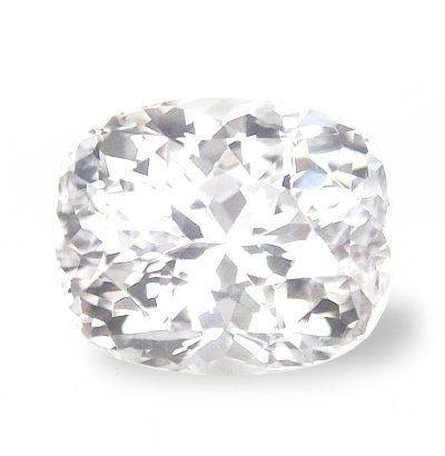 aae8cd94727b5d Colorless, clean, perfect cut & luster, 3rd party certified unheated,  Ceylon white sapphire.