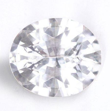 Jyotish White Sapphire High Quality Untreated White